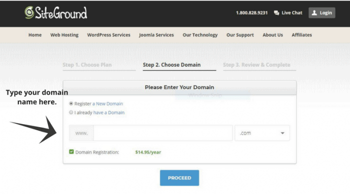 siteground domain name set up