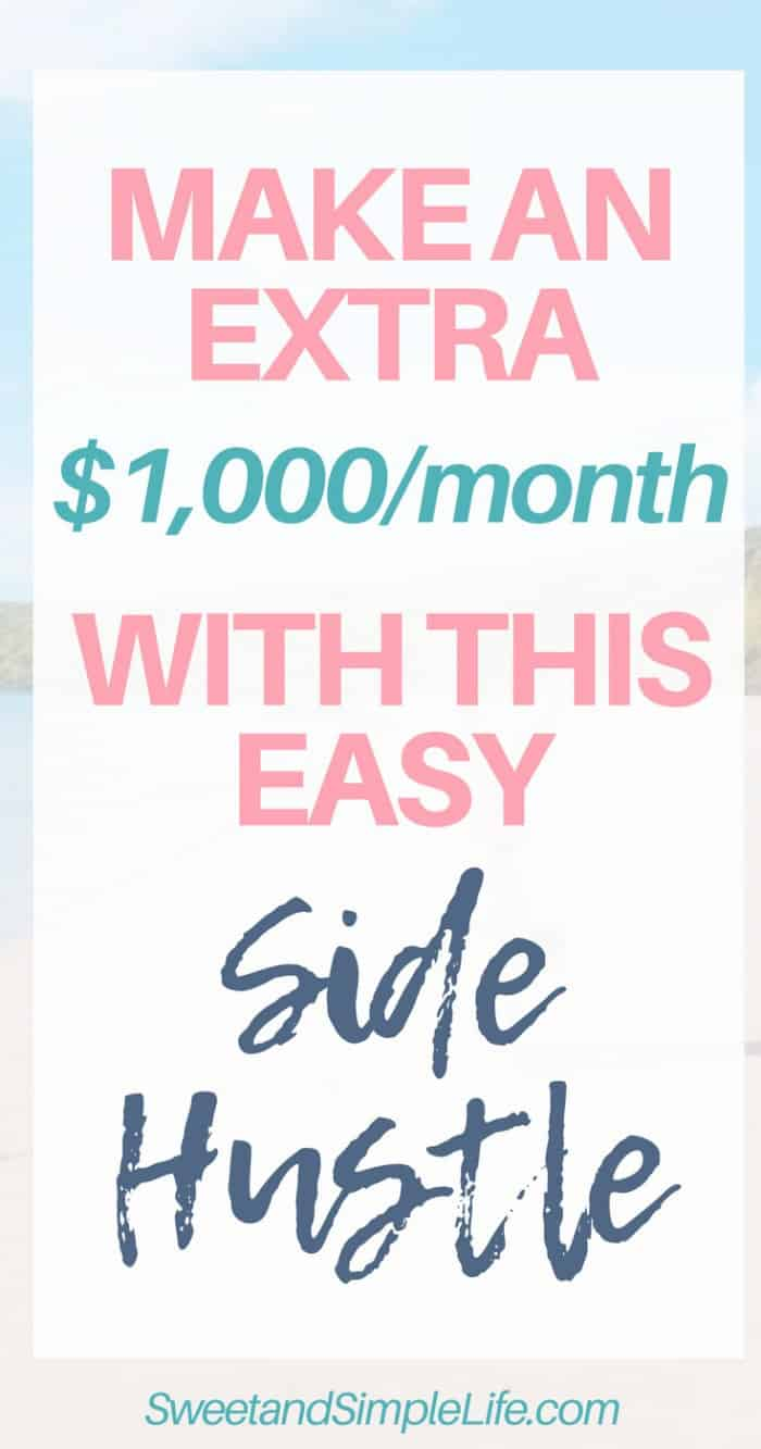 Here's how to earn an extra $1,000 month with a blogging side hustle | follow my step-by-step guide for making money with affiliate marketing!