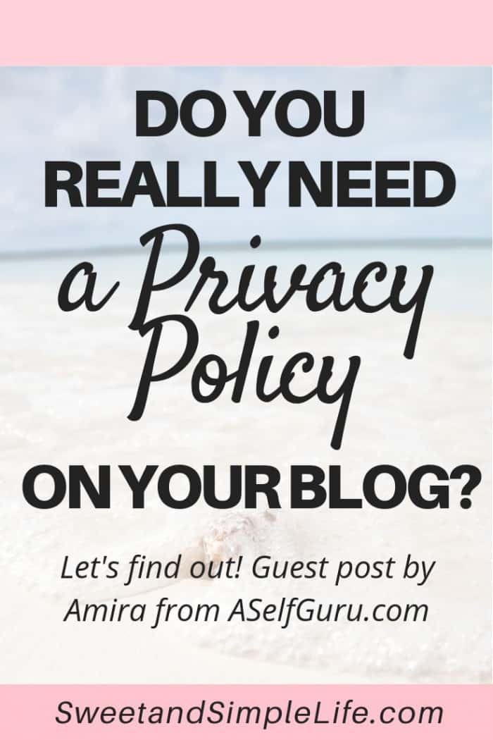 Every blog needs a privacy policy, disclosure, and terms and conditions on your site from day one. Here's why!