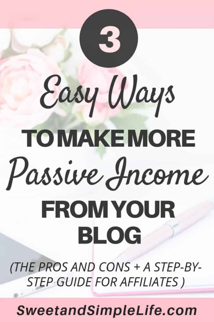 How to earn passive income from your blog | step by step guide for automating your blogging income!