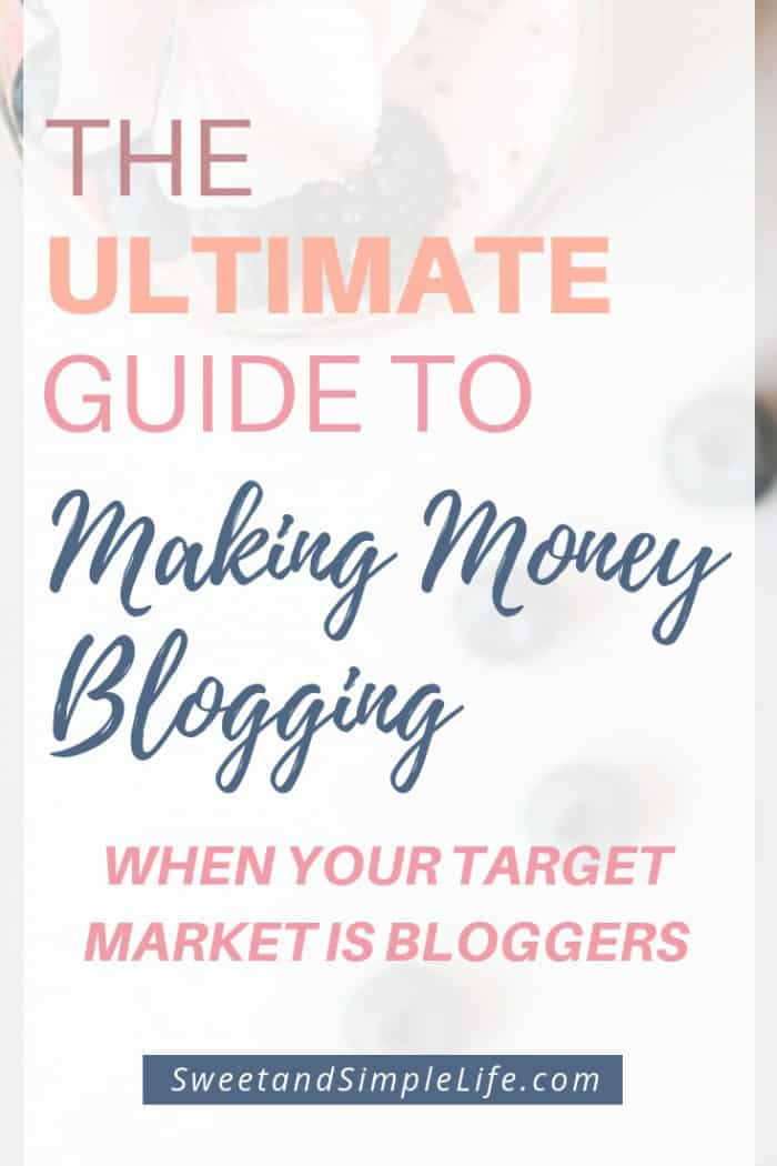 How to make money blogging about blogging