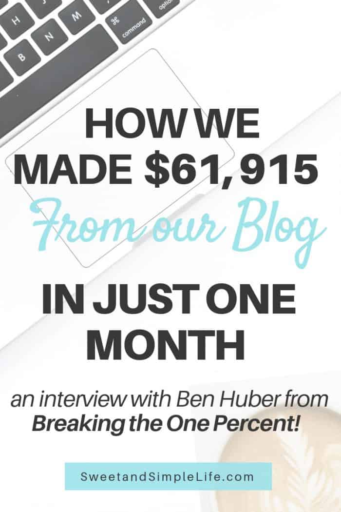 How to make money blogging | an interview with Ben Huber from Breaking the One Percent