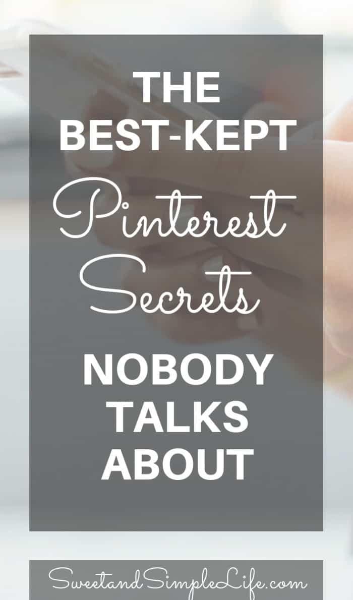 Pinterest secretes nobody talks about