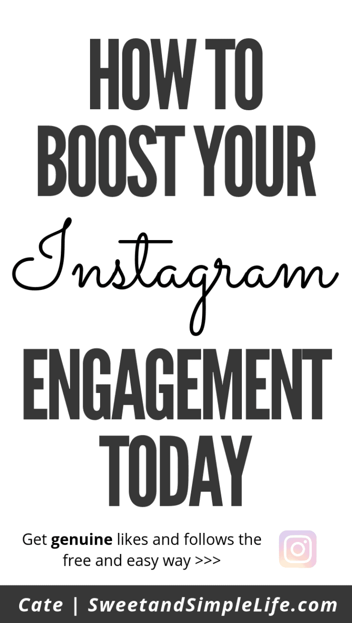 Bold black text on white background that says 'How to Boost Your Instagram Engagement Today'